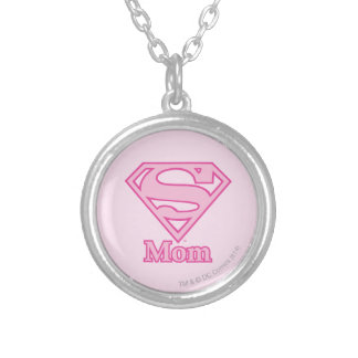 S-Shield Mom Round Pendant Necklace
