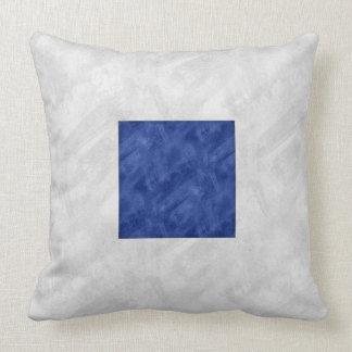 S Sierra Watercolor Nautical Signal Maritime Flag Cushion