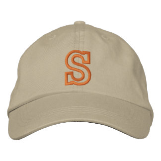"""S"" Small Athletic Letter Embroidered Hat"