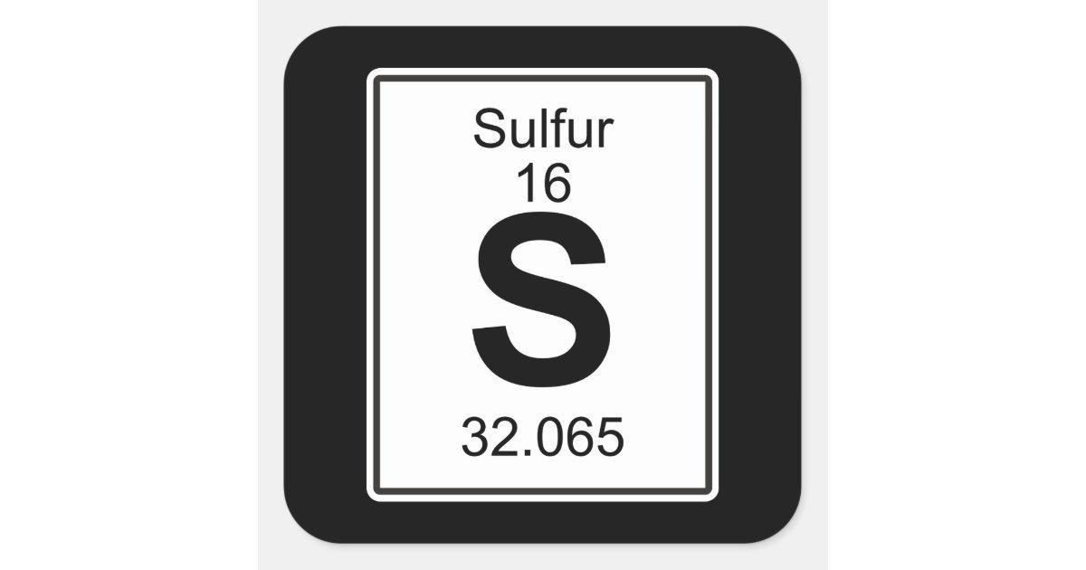 S Sulphur Square Sticker Zazzle