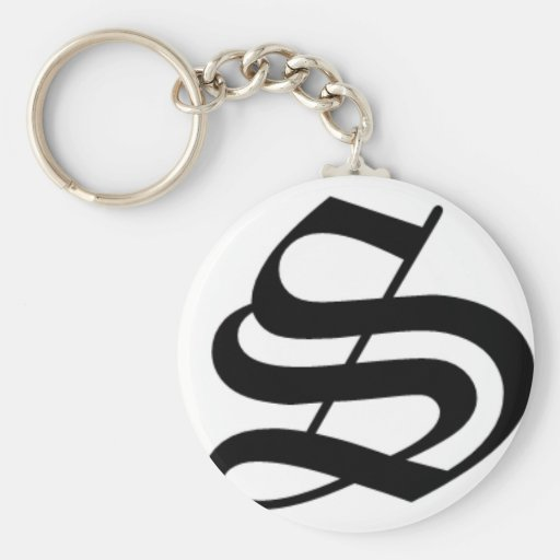 S-text Old English Key Chains