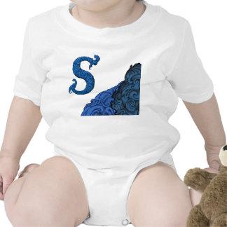 S - The Falck Alphabet Blue Baby Bodysuit
