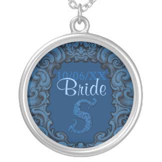 S - The Falck Alphabet Blue Wedding Necklaces
