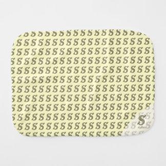 S - The Falck Alphabet Golden Baby Burp Cloths