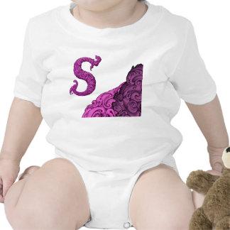 S - The Falck Alphabet Pink Baby Bodysuit
