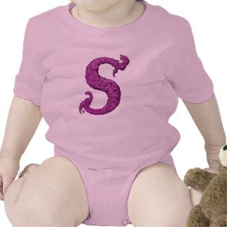 S - The Falck Alphabet Pink Romper