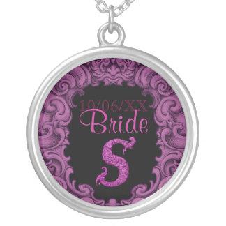 S - The Falck Alphabet Pink Wedding Necklace