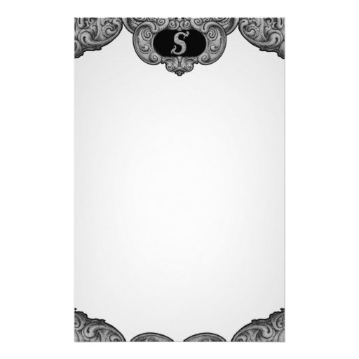 S - The Falck Alphabet (Silvery) Personalized Stationery