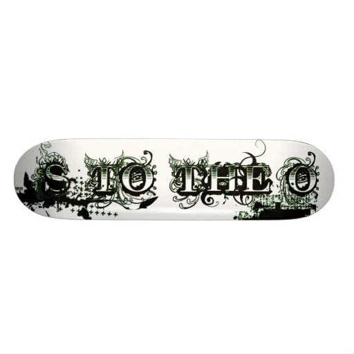 S to the O: Not Just a Name 21.6 Cm Old School Skateboard Deck