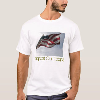 s_usflag, Support Our Troops T-Shirt