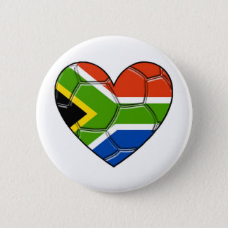 SA Heart,l love soccer ,south africa 6 Cm Round Badge