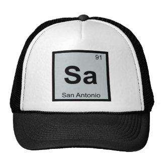 Sa - San Antonio Texas Chemistry Periodic Table Cap