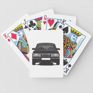 Saab 900 turbo (black) bicycle playing cards