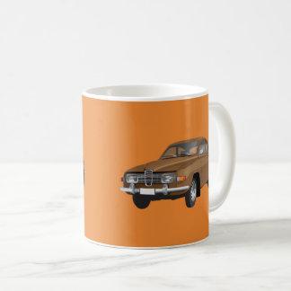 Saab 96, brown, coffee mug