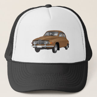 Saab 96 brown trucker hat