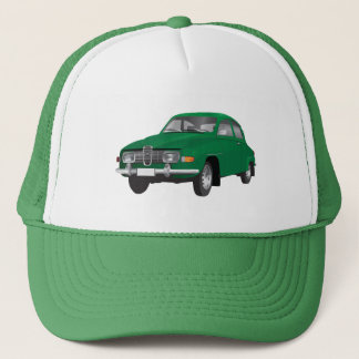Saab 96 green trucker hat