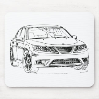 Saab 9-3 Turbo X 2008 Mouse Pad