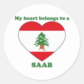 Saab Classic Round Sticker