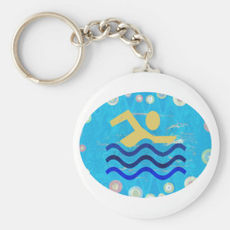 SAANVI  Cool mind in hot times Basic Round Button Key Ring