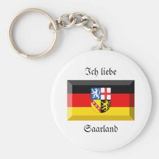 Saarland Flag Gem Key Chain