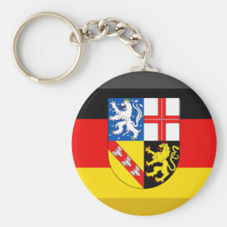 Saarland Flag Gem Keychains
