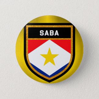 Saba Flag 6 Cm Round Badge