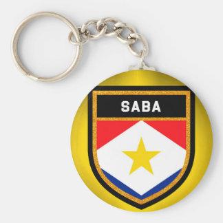 Saba Flag Key Ring