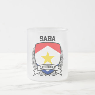Saba Frosted Glass Coffee Mug