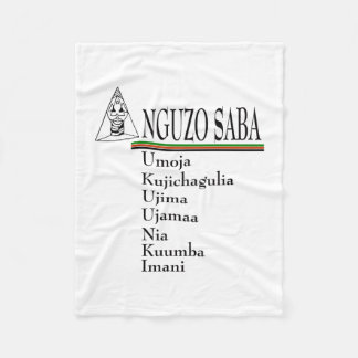 Saba Principles Kwanzaa Fleece Blanket