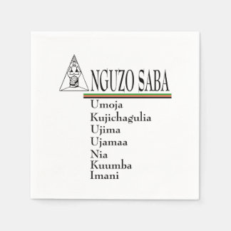 Saba Principles Kwanzaa Party Paper Napkins