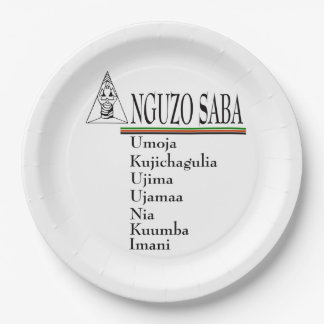 Saba Principles Kwanzaa Party Paper Plates