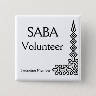 SABA, Volunteer, Founding Member 15 Cm Square Badge