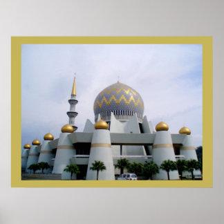 Sabah Mosque, Kota Malaysia Print on Canvas