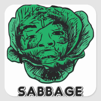 Sabbage Square Sticker