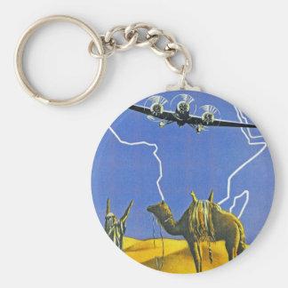 Sabena ~ Belgique Congo Basic Round Button Key Ring