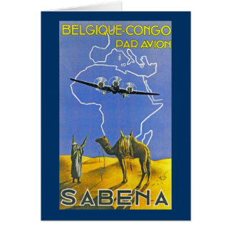 Sabena ~ Belgique Congo Cards