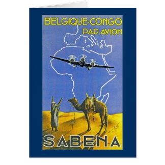 Sabena ~ Belgique Congo Greeting Card