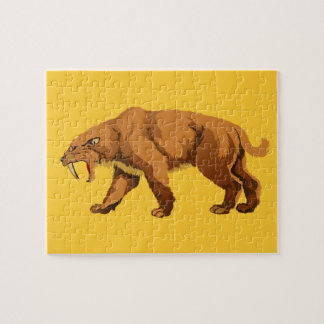 Saber Tooth Cat Jigsaw Puzzle