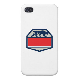 Saber Tooth Tiger Cat Hexagon Retro iPhone 4 Covers