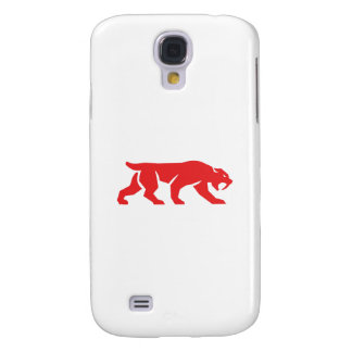 Saber Tooth Tiger Cat Silhouette Retro Galaxy S4 Case