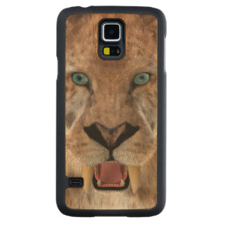 Saber Toothed Ttiger or Smilodon Carved Maple Galaxy S5 Case
