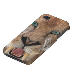 Saber Toothed Ttiger or Smilodon Case For The iPhone 4