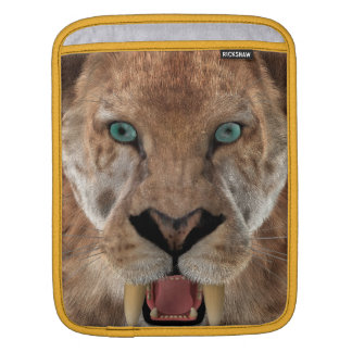 Saber Toothed Ttiger or Smilodon iPad Sleeve