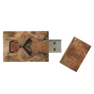 Saber Toothed Ttiger or Smilodon Wood USB Flash Drive