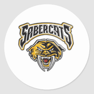 Sabercats Youth Football & Cheer Classic Round Sticker