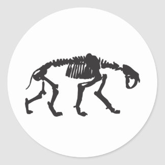 sabertooth classic round sticker