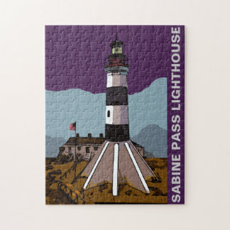 SABINE PASS LIGHTHOUSE JIGSAW PUZZLE