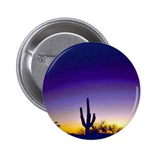 Sabino Canyon Arizona Sunset Pinback Buttons