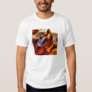 Sable Burmese Cat with bright blur filter Tshirt