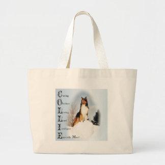 Sable Rough Collie Gifts Jumbo Tote Bag